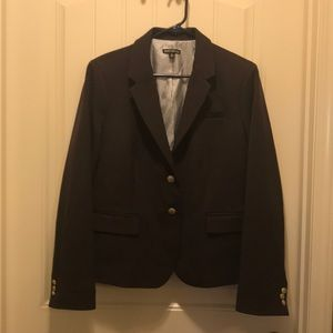 J. Crew black fully lined blazer.